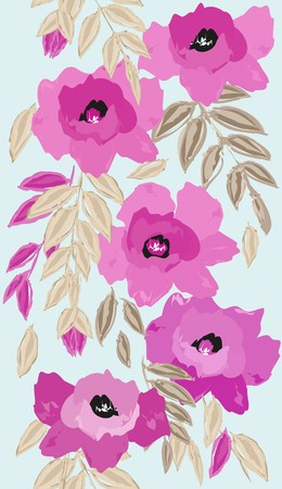 fondle: Abstract vertical flower seamless pattern background Illustration