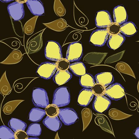fondle: Abstract flower seamless pattern