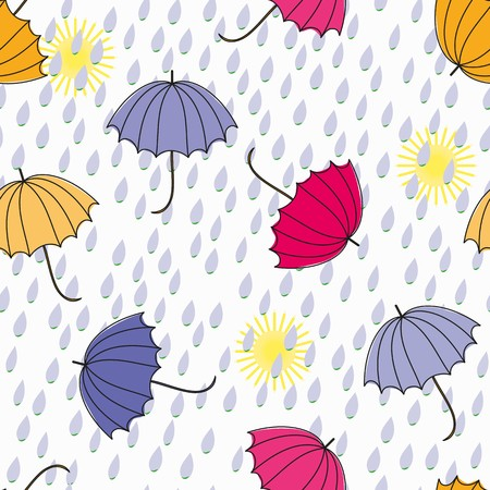 fondle: Abstract umbrellas seamless pattern background
