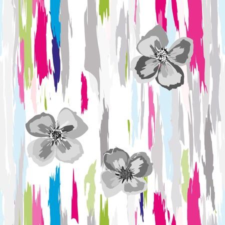抽象的な花のシームレスなパターンの背景