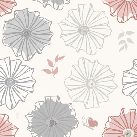 Abstract flower seamless pattern background Reklamní fotografie - 110406335