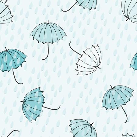 Abstract umbrellas seamless pattern background Reklamní fotografie - 110406352
