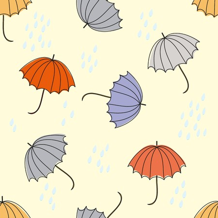 Abstract umbrellas seamless pattern background Reklamní fotografie - 110406362