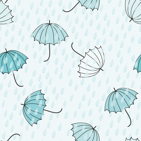 Abstract umbrellas seamless pattern background