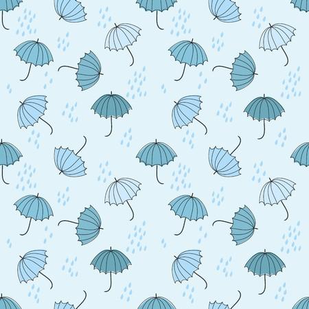 Abstract umbrellas seamless pattern background Reklamní fotografie - 110297961