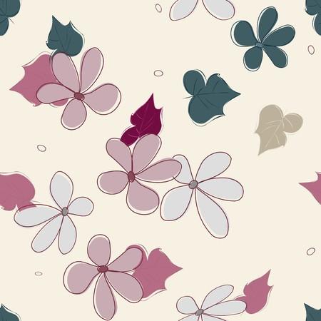 Abstract flower seamless pattern background Reklamní fotografie - 126216453