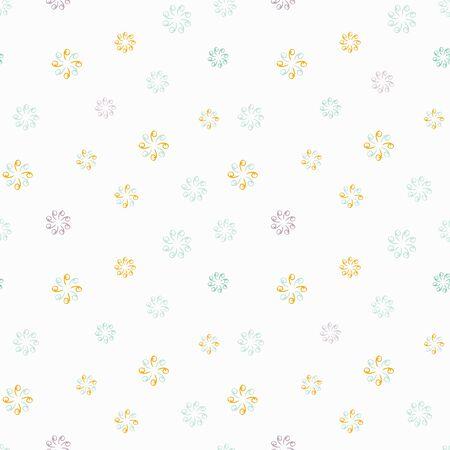 Abstract flower seamless pattern background Vektorové ilustrace