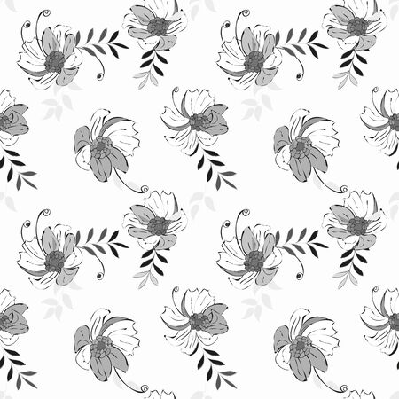 Abstract flower seamless pattern background Vettoriali