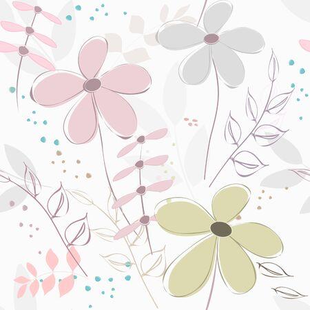 Abstract flower seamless pattern background Vektorgrafik