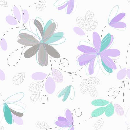 Design flowers seamless pattern background