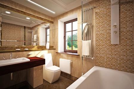 bad: Innere des Badezimmers