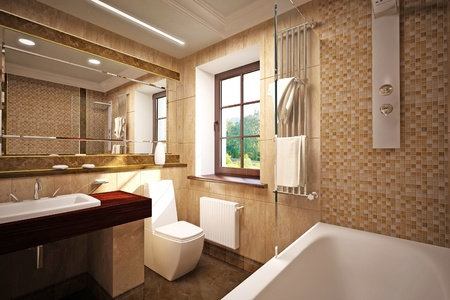 salle de bains: int�rieur de la salle de bains