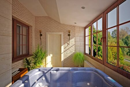 inter of bathroom with SPA Stock Photo - 13878775
