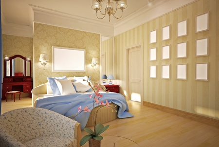 bedroom 3-D model Stock Photo - 14151602