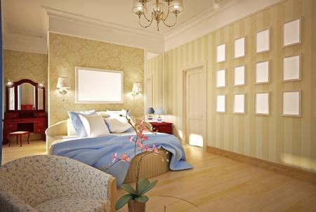 bedroom 3-D model Stock Photo - 14151602