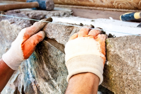 Construction mason worker bricklayer Stock Photo - 14315536
