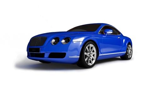 sleeping car:  Blue modern car