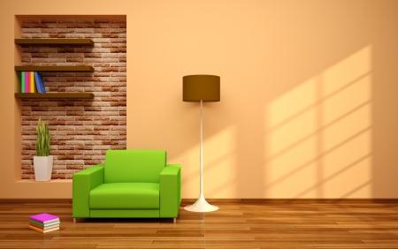 minimal modern interior Banco de Imagens