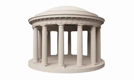 rotunda: Rotunda classic, Doric order on  white background Stock Photo