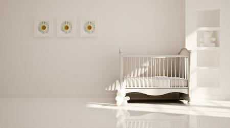 Interior of nursery  B W Banco de Imagens