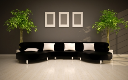minimal modern interior Stock Photo - 15199582