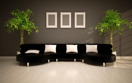 minimal modern interior Stock Photo - 15199582