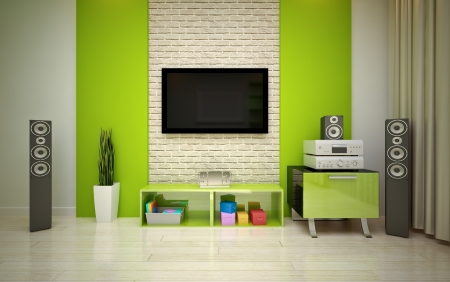 modern living room Stock Photo - 16499990