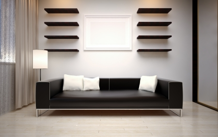 modern living room Stock Photo - 16499985