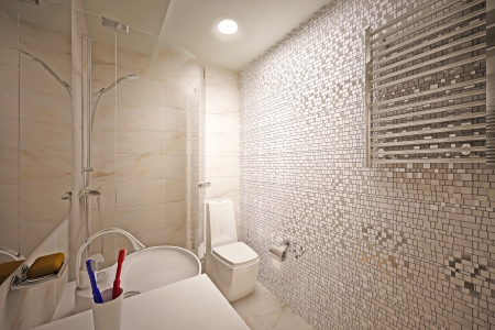 modern interior of bathroom photo