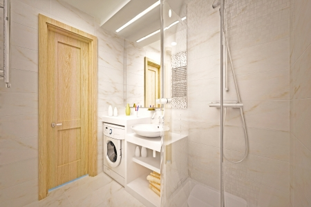 modern interior of bathroom Stock Photo - 16500096