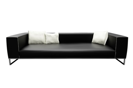 sofa on white background photo