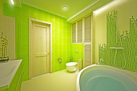 Eco, bamboo bathroom Stock Photo - 17013239