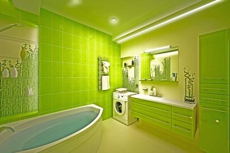 Eco, bamboo bathroom Stock Photo - 17013231