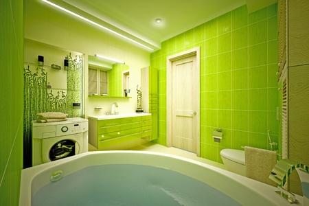 Eco, bamboo bathroom Stock Photo - 17013230