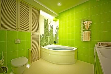 piastrelle bagno: Eco, bagno di bamb� Archivio Fotografico