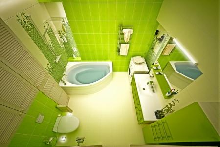 Eco, bamboo bathroom Stock Photo - 17013238