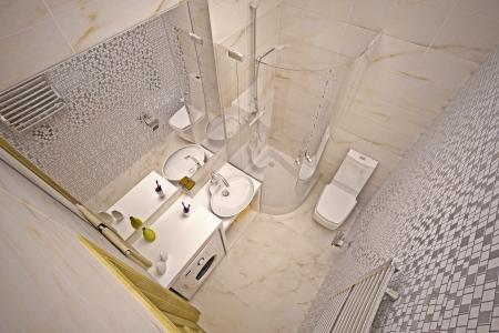 Modern interior of bathroom in house Stock Photo - 17013241