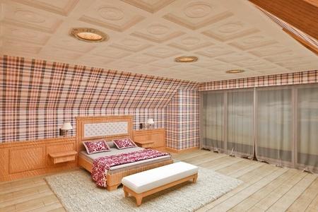 Classical interior bedroom on  top floor Stock Photo - 17636632
