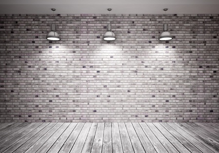 brick background:  banner on wall Stock Photo