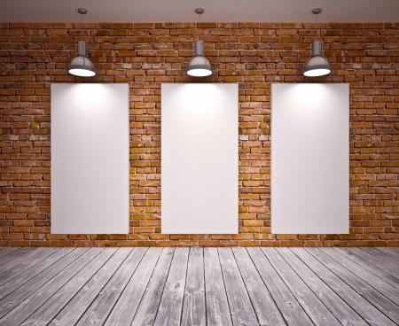 bannière sur le mur