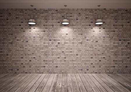 brick floor: cartel en la habitaci�n