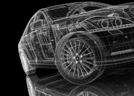 provide: car  3D model body structure