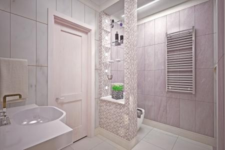 Modern inter  bathroom in house Stock Photo - 19457742
