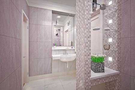 Modern interior  bathroom in house Stock Photo - 19433541