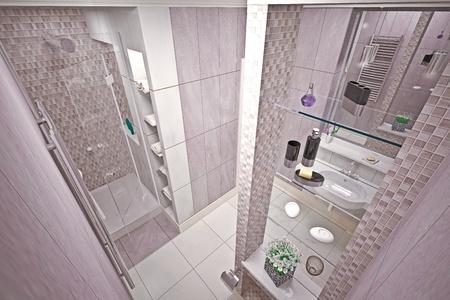 Modern inter  bathroom in house Stock Photo - 19457745