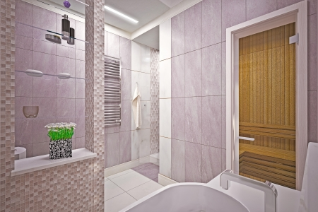 Modern interior  bathroom in house Stock Photo - 19457746