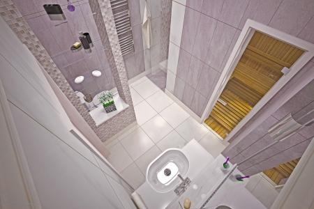 Modern interior  bathroom in house Stock Photo - 19457743