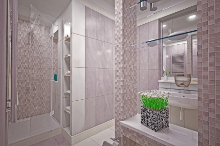 Modern interior  bathroom in house Stock Photo - 19457744