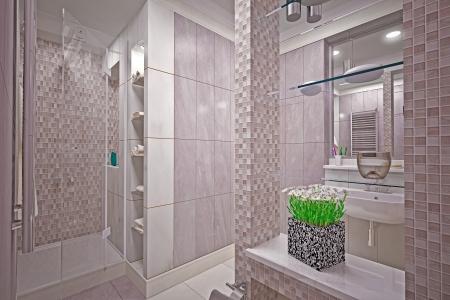 Modern interior  bathroom in house Stock Photo - 19457744