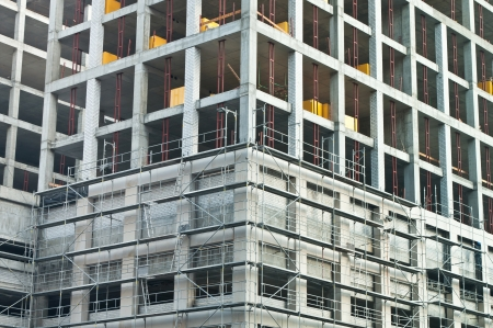 Development fragment of construction building